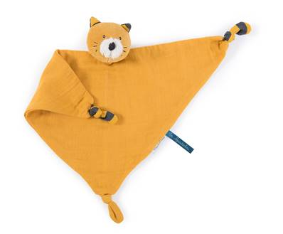 MOULIN ROTY - Doudou lange chat moutarde les moustaches